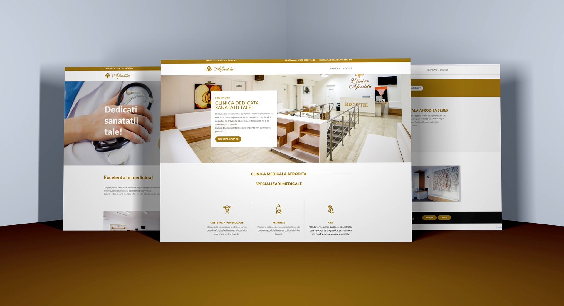 imagine website Clinica Afrodita